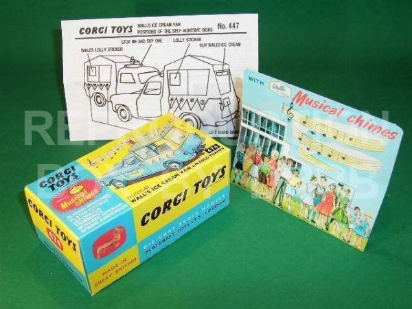 Corgi #474 Wall's Ice Cream Van (musical) - Reproduction Box